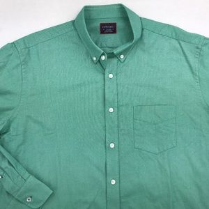 UNTUCKIT LONG SLEEVE BUTTON DOWN SHIRT XL GREEN